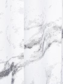 Douchegordijn Marble, 100% polyester Waterafstotend, niet waterdicht, Antraciet, wit, 180 x 200 cm