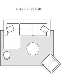 Zacht hoogpolig vloerkleed Rubbie met regenboog patroon in hoog-laag-structuur, Bovenzijde: microvezels (100% polyest, Onderzijde: 55% polyester, 45% katoen, Beige, B 160 x L 230 cm (maat M)