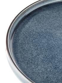 Piatto da colazione artigianale Quintana 2 pz, Porcellana, Blu, marrone, Ø 22 cm