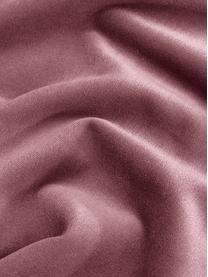 Effen fluwelen kussenhoes Dana in oudroze, 100% katoen fluweel, Oudroze, 50 x 50 cm
