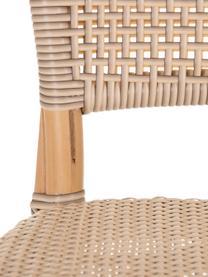 Krzesło z rattanu Ainara, Rattan ze splotem polypeel, Beżowy, S 54 x G 44 cm
