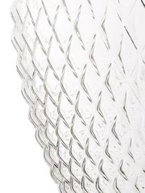 Kleine Pendelleuchte Lee aus Glas, Lampenschirm: Glas, Baldachin: Metall, verchromt, Transparent, Chrom, Ø 27 x H 33 cm