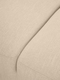 Hoekbank Melva (4-zits) in donkerbeige, Bekleding: 100% polyester, Frame: massief grenenhout, FSC-g, Poten: kunststof, Geweven stof donkerbeige, B 319 x D 196 cm