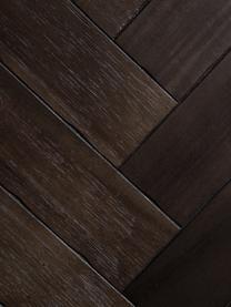 Skříňka sdýhou zakátového dřeva Class, Korpus: hnědá Nohy aúchyty: mosazná