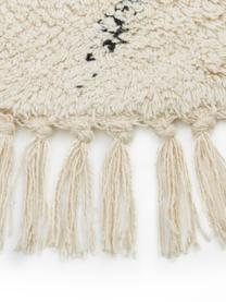 Tappeto rotondo in cotone taftato a mano Bina, 100% cotone, Beige, nero, Ø 150 cm (taglia M)