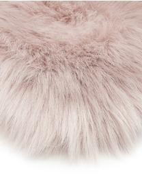 Kunstfell-Teppich Mathilde, glatt, Flor: 65% Acryl, 35% Polyester, Rückseite: 100% Polyester, Rosa, 60 x 180 cm