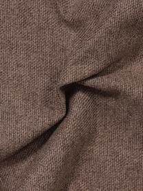 Ecksofa Fluente in Braun mit Metall-Füßen, Bezug: 100% Polyester 115.000 Sc, Gestell: Massives Kiefernholz, Füße: Metall, pulverbeschichtet, Webstoff Braun, B 221 x T 200 cm