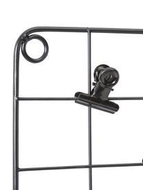 Gitter-Pinnwand-Set Ulf, 7-tlg., Metall, lackiert, Schwarz, 50 x 72 cm