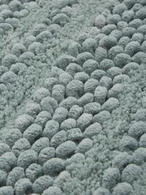Badvorleger Nea in Mintgrün mit Hoch-Tief-Struktur, 65% Chenille, 35% Baumwolle, Mintgrün, 80 x 120 cm