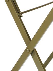 Inklapbaar balkontafel Ninet, Gecoat metaal, Groen, Ø 60 x H 70 cm