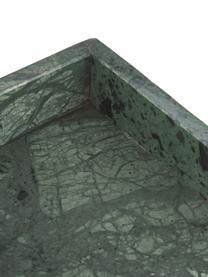 Decoratief marmeren dienblad Mera, Marmer, Gemarmerd groen, B 30 x D 15 cm