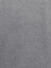 Fluwelen hoekbank Saint (3-zits) in grijs met eikenhouten poten, Bekleding: fluweel (polyester) De ho, Frame: massief eikenhout, spaanp, Fluweel grijs, B 243 x D 220 cm