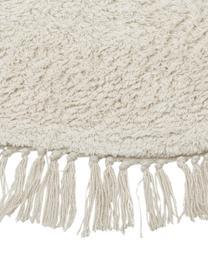 Tappeto rotondo in cotone taftato a mano Daya, 100% cotone, Beige, Ø 110 cm (taglia S)