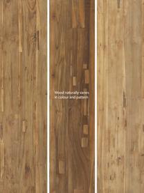 Teakhouten kruk Lawas, Natuurlijk teakhout, Teakhoutkleurig, 50 x 46 cm