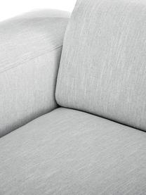 Ecksofa Melva (3-Sitzer) in Hellgrau, Bezug: Polyester Der hochwertige, Gestell: Massives Kiefernholz, Spa, Füße: Kiefernholz Die Füße befi, Webstoff Hellgrau, B 240 x T 144 cm