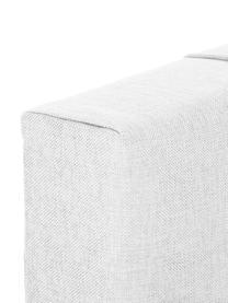 Hellgraues Premium Boxspringbett Lacey, Matratze: 7-Zonen-Taschenfederkern , Füße: Massives Buchenholz, lack, Helles Weiß-Grau, 140 x 200 cm