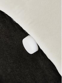 Samt-Polsterbank Alto, Bezug: Samt (Polyester) 30.000 S, Gestell: Massives Kiefernholz, Spe, Samt Cremeweiß, 110 x 47 cm