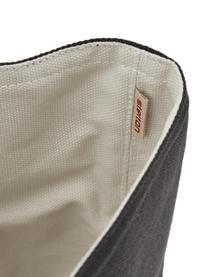 Cestino per pane di design Helga, Cotone, Beige, nero, Ø 23 cm