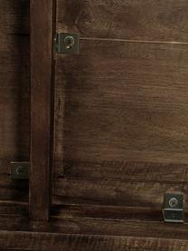 Table ovale en bois massif Oscar, Brun foncé