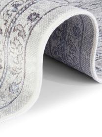 Teppich Medaillon im Vintage Look, Viskose/Baumwolle, 60% Viskose, 40% Baumwolle, Pastellblau, Hellgrau, B 195 x L 300 cm (Größe L)