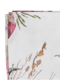 Tovaglia in cotone con motivo floreale Florisia, Cotone, Rosa, bianco, Per 4-6 persone (Larg.160 x Lung. 160 cm)