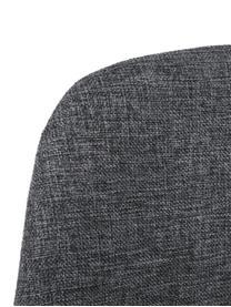 Sedia imbottita Karla 2 pz, Rivestimento: 100% poliestere, Piedini: metallo, Rivestimento: grigio scuro, piedini: nero, Larg. 44 x Prof. 53 cm