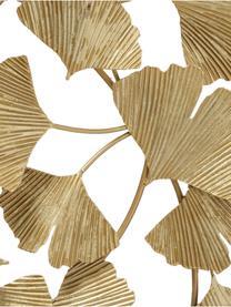 Wandobjekt Ginkgo, Metall, pulverbeschichtet, Messingfarben, 75 x 85 cm