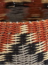 Cesta Matta, Papél sólido, trenzado, Rojo cobrizo, gris, beige, Ø 27 x Al 12 cm