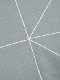 Parure copripiumino reversibile in cotone ranforce Marla, Tessuto: Renforcé, Grigio, bianco, 255 x 200 cm