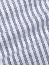Poszewka na poduszkę z bawełny Ellie, 2szt., Biały, ciemnyniebieski, S 40 x D 80 cm
