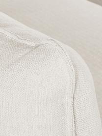 Divano angolare in tessuto beige Tribeca, Rivestimento: poliestere Il rivestiment, Struttura: legno massiccio di pino, Piedini: legno massiccio di faggio, Tessuto beige, Larg. 405 x Prof. 228 cm