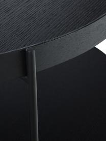 Grande table basse avec rangement Renee, Plateaux: noir Structure: noir, mat