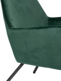 Samt-Loungesessel Bon in Grün, Bezug: 100% Polyestersamt Der ho, Gestell: Schichtholz, Gummibaumhol, Füße: Stahl, pulverbeschichtet, Grün, B 80 x T 76 cm