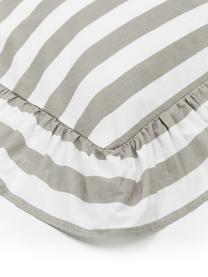 Pościel z bawełny z efektem sprania Averni, Beżowy, biały, 240 x 220 cm + 2 poduszka 80 x 80 cm