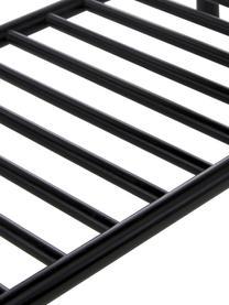 Bambus-Bank Noble, Bambus, lackiert und karbonisiert, Schwarz, 90 x 45 cm