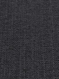 Sofa-Hocker Moby in Dunkelgrau mit Metall-Füßen, Bezug: Polyester Der hochwertige, Gestell: Massives Kiefernholz, Füße: Metall, pulverbeschichtet, Webstoff Dunkelgrau, 78 x 48 cm