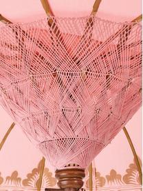Runder Sonnenschirm Oriental Lounge in Rosa, Ø 180 cm, Gestell: Fruchtholz mit Metallappl, Rosa, Goldfarben, Dunkelbraun, Ø 180 x H 225 cm