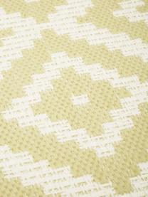 Tappeto fantasia giallo/bianco da interno-esterno Miami, 86% polipropilene, 14% poliestere, Bianco, giallo, Larg. 200 x Lung. 290 cm (taglia L)