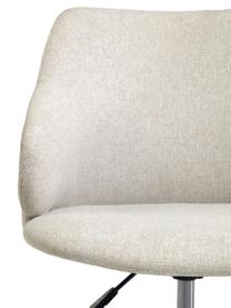 Polster-Bürodrehstuhl Einara in Grau, höhenverstellbar, Bezug: Polyester, Gestell: Stahl, beschichtet, Rollen: Polypropylen, Grau, B 64 x T 64 cm