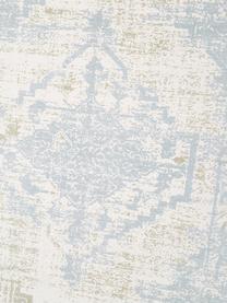 Handgewebter Baumwollläufer Jasmine in Beige/Blau im Vintage-Style, Beige, Blau, 80 x 250 cm