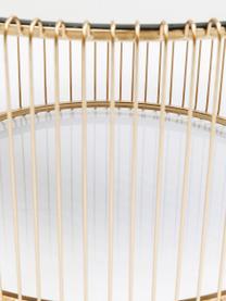 Table basse ronde plateau en verre Wire, 2élém., Or