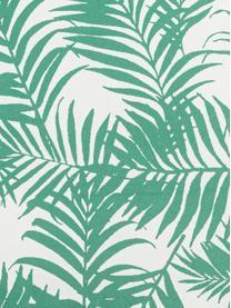 Outdoor-Kissen Gomera mit Blattmuster, mit Inlett, 100% Polyester, Weiß, Grün, 45 x 45 cm