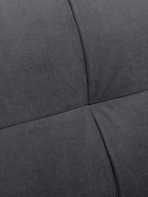 Poltrona in velluto grigio scuro Alva, Rivestimento: velluto (copertura in pol, Struttura: legno di pino massiccio, Piedini: legno massello di faggio,, Velluto grigio scuro, Larg. 102 x Alt. 92 cm
