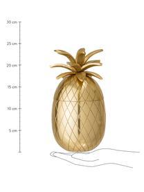 Kleiner Eiseimer Pineapple in Gold, Aluminium, Goldfarben, Ø 13 x H 24 cm