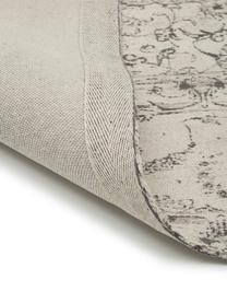 Tapis beige gris vintage chenille tissé main Sofia, Beige, gris