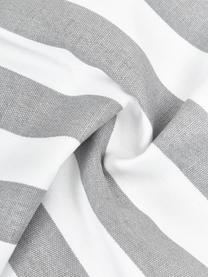 Gestreifte Kissenhülle Timon in Grau/Weiß, 100% Baumwolle, Hellgrau, Weiß, 50 x 50 cm