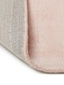 Tapis rose en viscose tissé main Jane, Rose