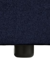 Modulaire XL chaise longue Lennon in blauw, Bekleding: 100% polyester De slijtva, Frame: massief grenenhout, multi, Poten: kunststof De poten bevind, Geweven stof blauw, 357 x 119 cm
