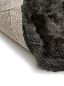 Tappeto lucido a pelo lungo Jimmy, Retro: 100% cotone, Grigio scuro, Larg. 300 x Lung. 400 cm (taglia XL)