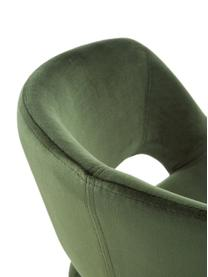 Samt-Drehstuhl Grace, höhenverstellbar, Bezug: Polyestersamt 25.000 Sche, Gestell: Metall, pulverbeschichtet, Samt Waldgrün, B 56 x T 54 cm